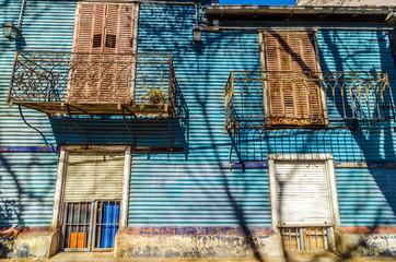 Leinwandbilder - Blue Building Facade
