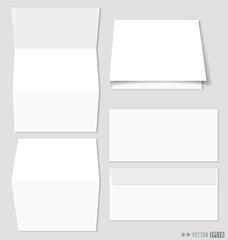 White paper and envelopes. Vector illustration.