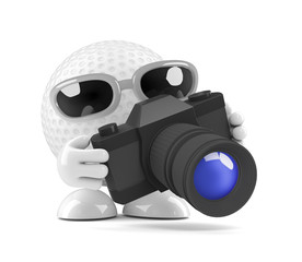Golfball takes a photo