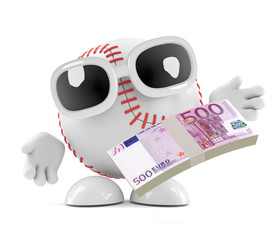 Baseball is paid in Euros