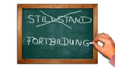 Kreidetafel II - Stillstand - Fortbildung