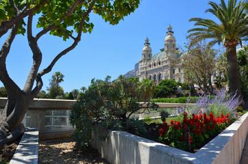Garden in front of Monte Carlo Casino, Monaco