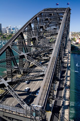 The Sydney Harbour Bridge towards North Sydney