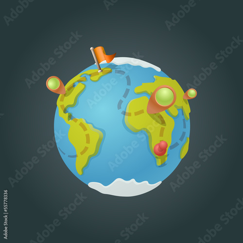World map globe cartoon fun vector funny game style stock image world map globe cartoon fun vector funny game style gumiabroncs Gallery