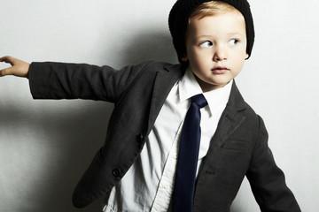 fashion little boy in tie.stylish kid. fashion children