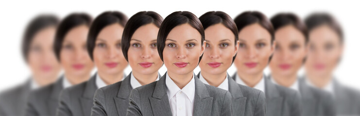 Group of business women clones