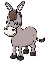 Vector illustration of Cartoon burro