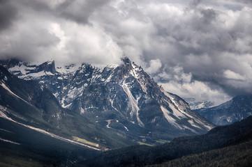 Rocky mountains above Cortina D'Ampezzo