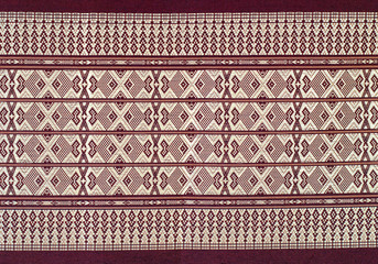 Colorful batik cloth fabric of thai style