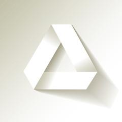 Papier Dreieck Origami Weiß