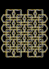 Celtic Grid on Black