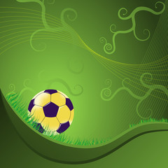 balón de fútbol sobre un fondo abstracto