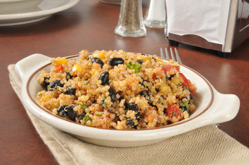 Quinoa and black bean salad