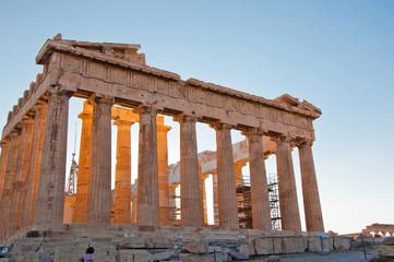 The Parthenon on the Athenian Acropolis, Greece.