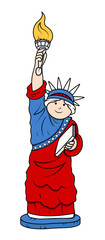 Statue Of Liberty - 4th of July Vector Illustration