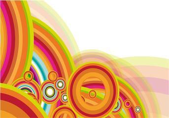 Rainbow abstract. Vector.