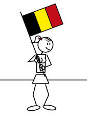 Stick figure belgian flag