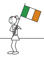 Stick figure ireland flag