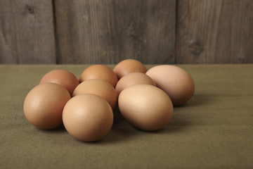 eggs on the kitchen counter.