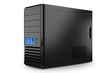 Case tower desktop home PC. Workstation computer
