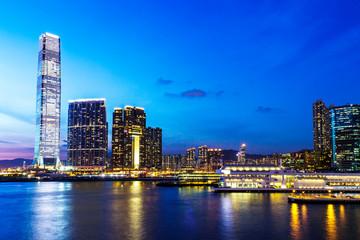 Kowloon skyline at night