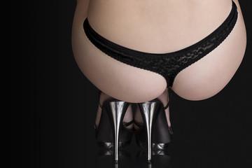 Perfect butt on high heels