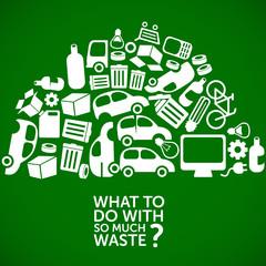 waste, dump, junkyard - ecological background