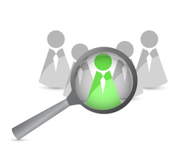 searching for a leader. illustration design
