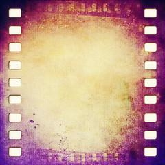grunge film strip frame background