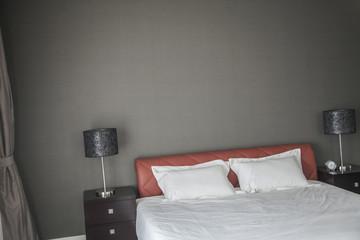 Bright, modern bedroom.