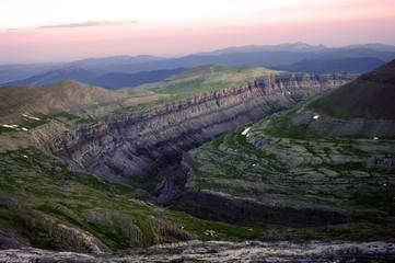 Wall Mural - Ordessa valley at sunset
