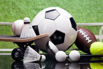 Sport articles. Balls and other equipment