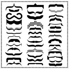 Set of Mustache, Vector illustration