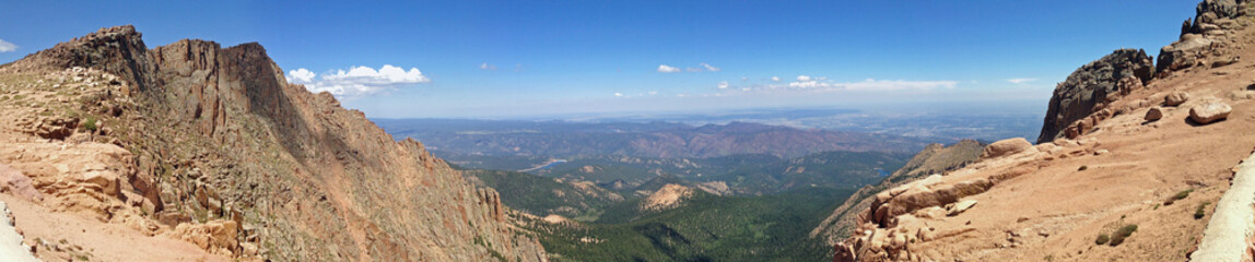 View from Pikes Peak in Colorado