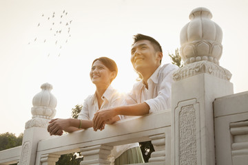 Young Couple on a Traditional Bridge