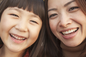 Mother and Daughter autumn Portrait