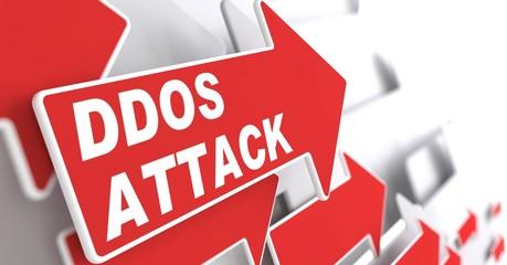 DDOS Attack.  Information Concept.