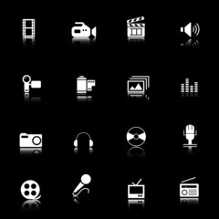 Multimedia and web icons