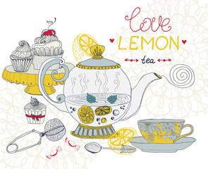 love lemon tea card