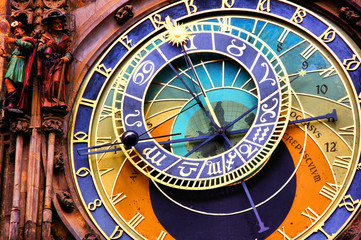 Deurstickers Praag Prague astronomical clock