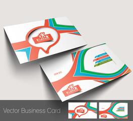 Vector Kids Care business card set