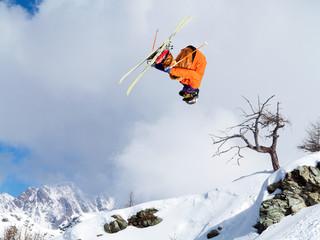 piroetta con gli sci