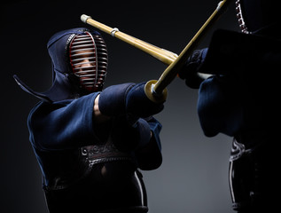 Competition of two kendo fighters