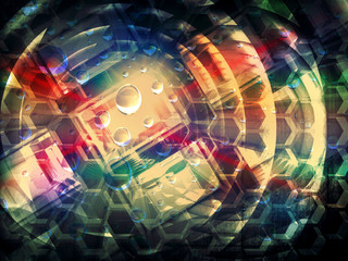 Colorful abstract creativity concept 3d background