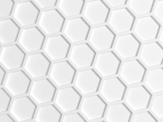 Top view of white honeycomb pattern on the wall