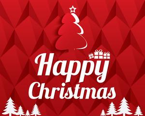 Christmas Greeting Card. Christmas tree. Eps10.
