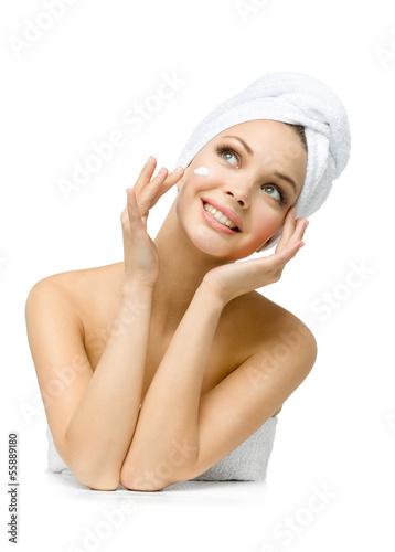 девушка с полотенцем фото