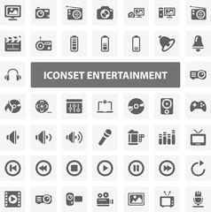 Website Iconset - Entertainment 44 Basic Icons