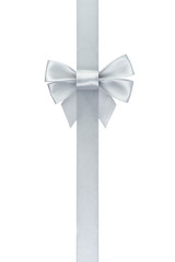 silver ribbon bow vertical