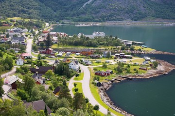 Garden Poster Scandinavia Eidfjord city, Norway